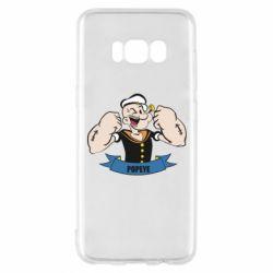 Чехол для Samsung S8 Моряк Папай