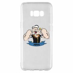 Чехол для Samsung S8+ Моряк Папай