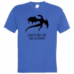 Мужская футболка  с V-образным вырезом Mother of dragons 1