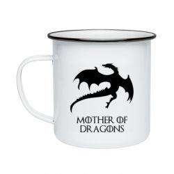 Кружка эмалированная Mother of dragons 1