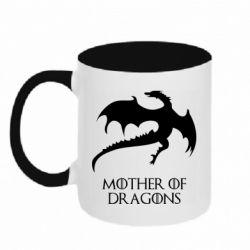 Кружка двухцветная 320ml Mother of dragons 1