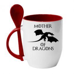 Кружка с керамической ложкой Mother Of Dragons - FatLine