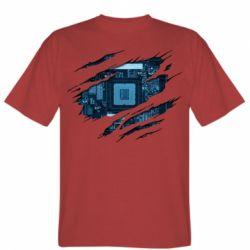 Чоловіча футболка Motherboard through the T-Shirt