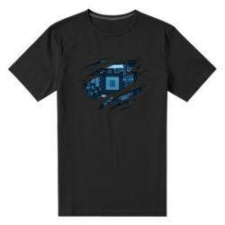 Чоловіча стрейчева футболка Motherboard through the T-Shirt