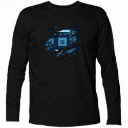 Футболка з довгим рукавом Motherboard through the T-Shirt