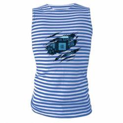 Майка-тільняшка Motherboard through the T-Shirt
