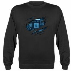 Реглан (світшот) Motherboard through the T-Shirt