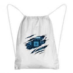 Рюкзак-мішок Motherboard through the T-Shirt