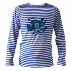 Тільник з довгим рукавом Motherboard through the T-Shirt