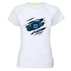 Жіноча спортивна футболка Motherboard through the T-Shirt
