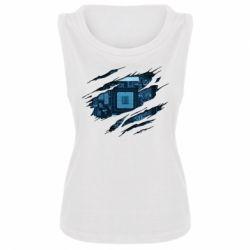 Майка жіноча Motherboard through the T-Shirt
