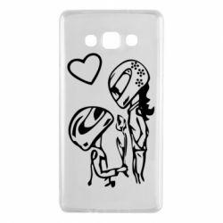 Чехол для Samsung A7 2015 MOTO LOVE