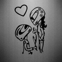 Наклейка MOTO LOVE - FatLine
