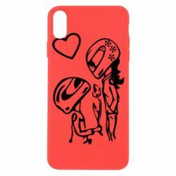 Чехол для iPhone X/Xs MOTO LOVE
