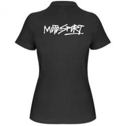 Жіноча футболка поло MOTO SPORT - FatLine