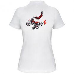 Женская футболка поло Moto-X - FatLine