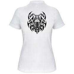 Женская футболка поло Мотоцикл с кельтами - FatLine
