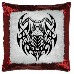 Подушка-хамелеон Мотоцикл с кельтами