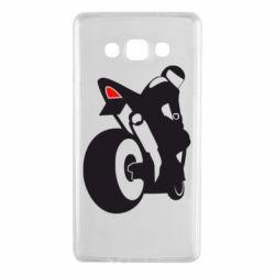 Чехол для Samsung A7 2015 Мотоциклист на спорте