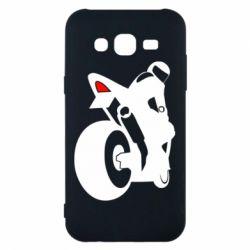 Чохол для Samsung J5 2015 Мотоцикліст на спорті