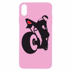 Чехол для iPhone Xs Max Мотоциклист на спорте