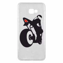 Чохол для Samsung J4 Plus 2018 Мотоцикліст на спорті