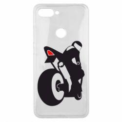 Чехол для Xiaomi Mi8 Lite Мотоциклист на спорте
