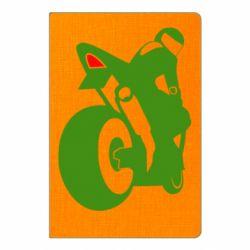 Блокнот А5 Мотоцикліст на спорті