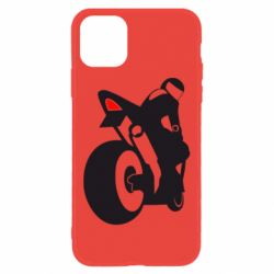 Чехол для iPhone 11 Мотоциклист на спорте