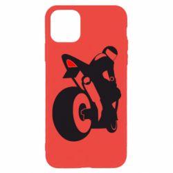 Чехол для iPhone 11 Pro Мотоциклист на спорте