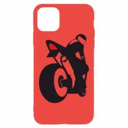 Чехол для iPhone 11 Pro Max Мотоциклист на спорте