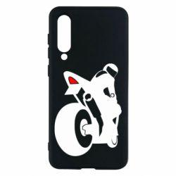 Чохол для Xiaomi Mi9 SE Мотоцикліст на спорті