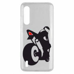 Чохол для Xiaomi Mi9 Lite Мотоцикліст на спорті