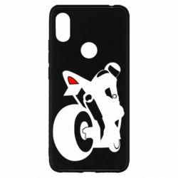 Чохол для Xiaomi Redmi S2 Мотоцикліст на спорті