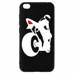 Чохол для Xiaomi Redmi Go Мотоцикліст на спорті