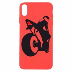 Чохол для iPhone X/Xs Мотоцикліст на спорті