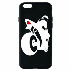 Чехол для iPhone 6/6S Мотоциклист на спорте
