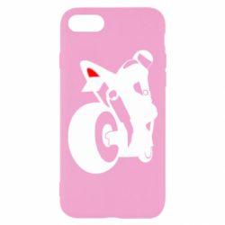 Чехол для iPhone 7 Мотоциклист на спорте