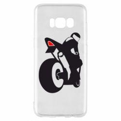 Чехол для Samsung S8 Мотоциклист на спорте