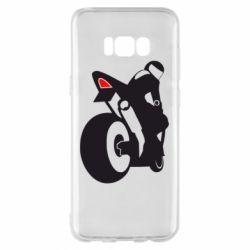 Чехол для Samsung S8+ Мотоциклист на спорте
