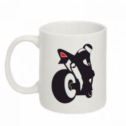 Купить Кружка 320ml Мотоциклист на спорте, FatLine