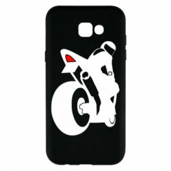 Чехол для Samsung A7 2017 Мотоциклист на спорте