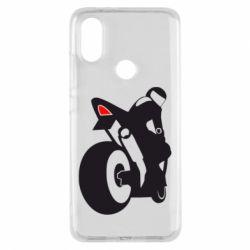 Чохол для Xiaomi Mi A2 Мотоцикліст на спорті