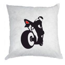 Подушка Мотоциклист на спорте - FatLine