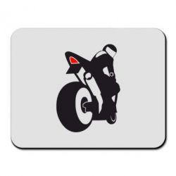 Коврик для мыши Мотоциклист на спорте - FatLine