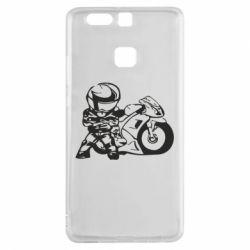 Чехол для Huawei P9 Мотоциклист - FatLine