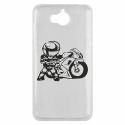 Чехол для Huawei Y5 2017 Мотоциклист - FatLine