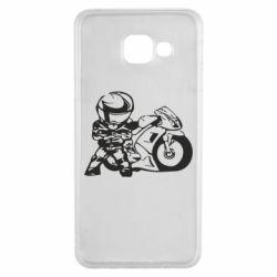 Чехол для Samsung A3 2016 Мотоциклист - FatLine