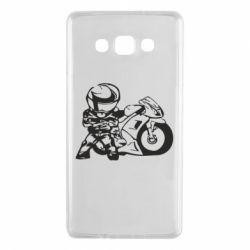 Чехол для Samsung A7 2015 Мотоциклист - FatLine