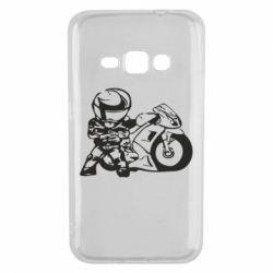 Чехол для Samsung J1 2016 Мотоциклист - FatLine